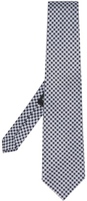 Etro Checked Pattern Woven Tie