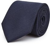 Reiss Solo - Herringbone Silk Tie in Blue, Mens