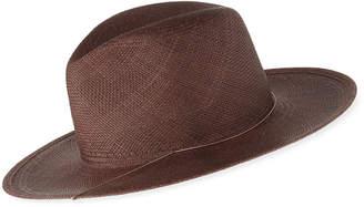 Janessa Leone Ines Straw Fedora Hat