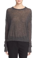 Helmut Lang Women's Raw Edge Cashmere Crewneck Sweater