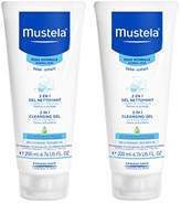 Mustela 2-in-1 Cleansing Gel for Hair and Body, 6.76 Fl Oz (Pack of 2)