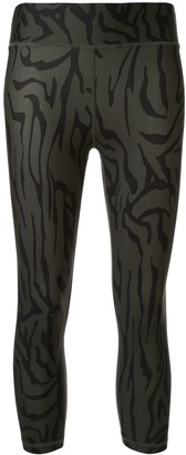 The Upside Printed Cropped Sports Leggings