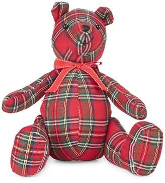 Glucksteinhome Merry Bright Sitting Plaid Bear Ornament