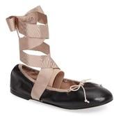Topshop Women's Le Petite Ankle Tie Ballet Flat