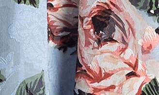 Lucy Paris Burnout Floral Strappy Trapeze Mini Dress