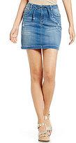 C & V Chelsea & Violet Distressed Denim Skirt