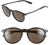 Gucci Men's 51Mm Sunglasses - Black Ruthenium/ Brown Grey