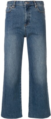 A.P.C. Cropped Straight-Leg Jeans