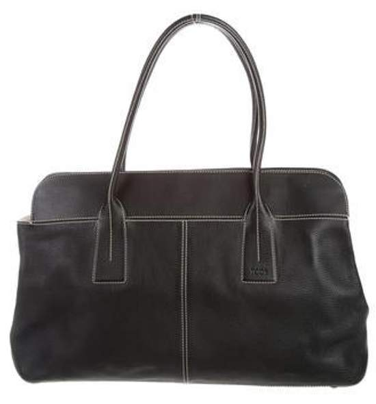 Tod's Leather Tote Bag Black Leather Tote Bag