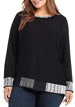 Nic and Zoe Plus Size Stand Out Sweater