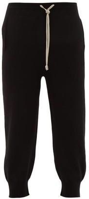 Rick Owens Boiled Cashmere Track Pants - Black