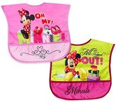 Disney Minnie 2 Pack Wipe Clean Bibs by