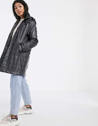 Rains waterproof check mac coat-Grey