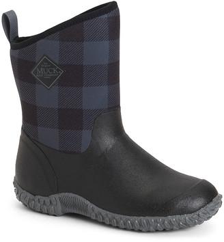 The Original Muck Boot Company Women's Rain boots Black/Gray - Black & Gray Plaid Muckster II Rain Boot - Women