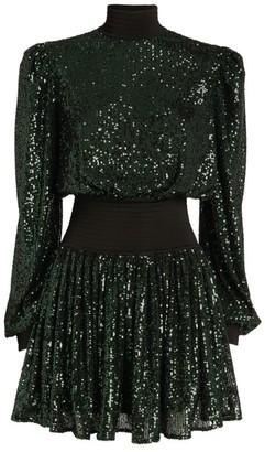 Balmain Long-Sleeved Sequin Mini Dress