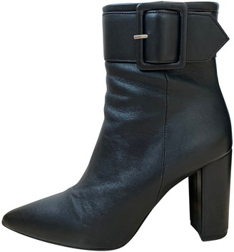 The Kooples Fall Winter 2019 Black Leather Ankle boots