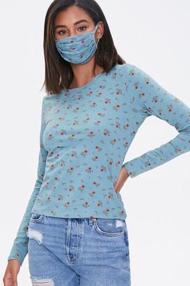 Forever 21 Floral Top Face Mask Set
