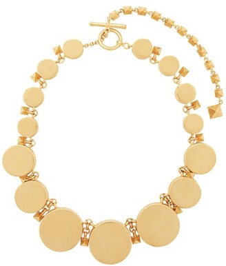 Valentino Circular Rockstud-embellished Choker Necklace - Womens - Gold