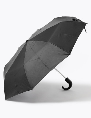 Marks and Spencer Recycled Polyester Crook Handle Umbrella with Windtech