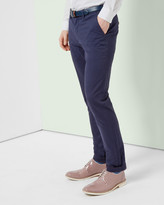 Ted Baker Slim Fit Cotton Chinos Dusky Pink