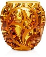 Lalique Tourbillon Amber Vase
