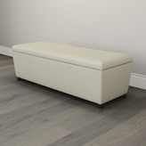 The White Company Langley Herringbone Ottoman