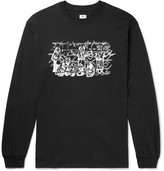 SASQUATCHfabrix. Ainu Printed Cotton-Jersey T-Shirt