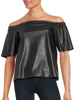 Bailey 44 Off-the-Shoulder Faux Leather Top