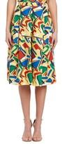 Ganesh Linen Midi Skirt.