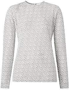 Burberry Women's Monogram Crewneck Top