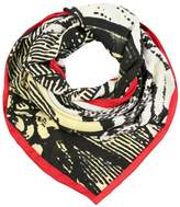 Lulu Guinness ROSE LIP LADY Scarf multi