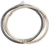 Nine West Tri-Tone Set of 3 Stretch Bangle Bracelets