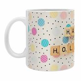"""DENY Designs Happee Monkee """"Happy Holiday Baubles"""" Mugs (Set of 2)"""