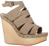 Max Studio by Leon Max Fend - Embossed Suede Wedges
