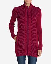 Eddie Bauer Women's Shasta Zip-Front Mockneck Cardigan Sweater