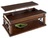 Progressive Landmark Coffee Table Lift-Top with Casters - Vintage Ash Furniture