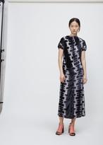 Marni dolphin short sleeve velvet print dress