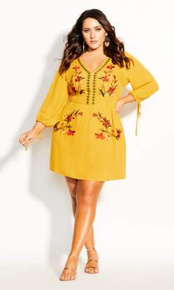 City Chic Amazonian Dress - gold
