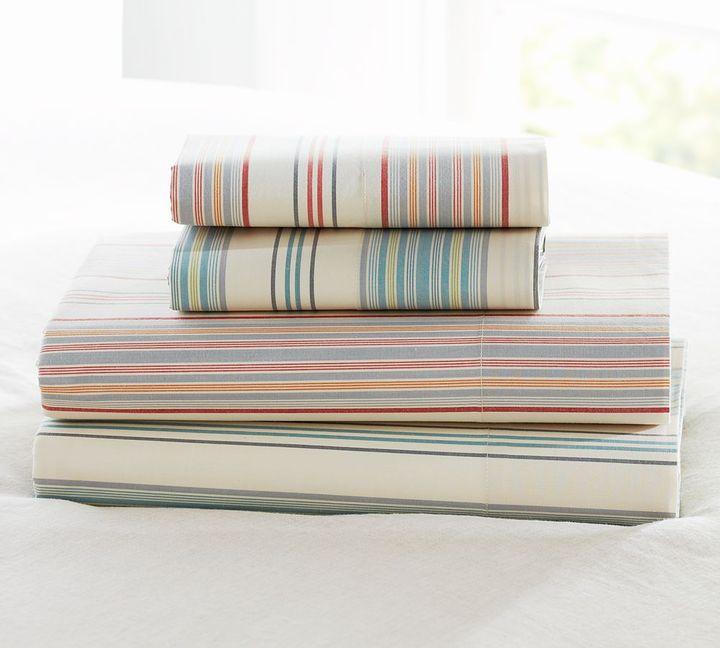 Pottery Barn Jenny Stripe Organic Sheet Set