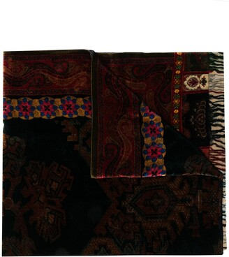Pierre Louis Mascia Textured Mixed-Print Scarf
