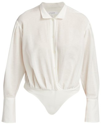 Frame Wrap Shirt Bodysuit