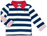 Jo-Jo JoJo Maman Bebe Stripe Rugby Top (Baby) - Ecru/Navy Stripe-18-24 Months