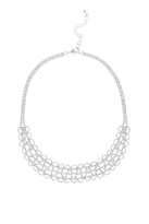 Quiz Silver Diamante Scallop Necklace