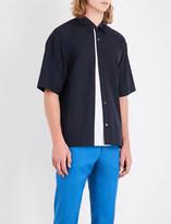 Marni Contrast-panel regular-fit cotton shirt