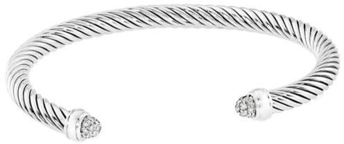 David Yurman 925 Sterling Silver Diamond Bracelet