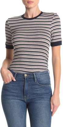 Frame 70's Stripe Print T-Shirt