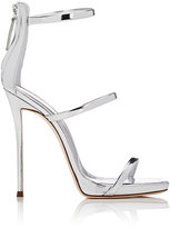 Giuseppe Zanotti Women's Coline Leather Triple-Strap Sandals-SILVER