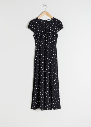 And other stories Polka Dot Midi Dress