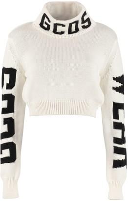 GCDS Cropped Turtleneck Sweater