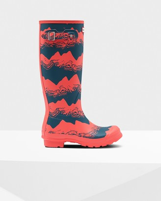 Hunter Women's Original Tall Storm Stripe Rain Boots